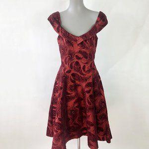 NWT Voodoo Vixen Velvet Feather Retro 50s Dress
